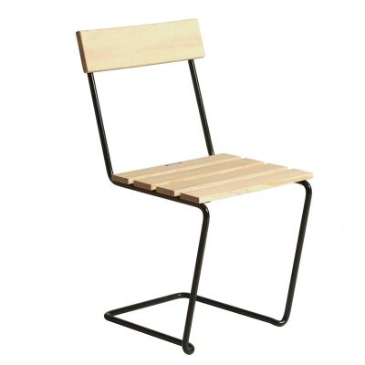 Stol 1, oljad furu/grönt stativ