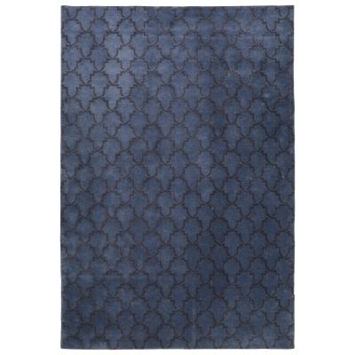 Mahal matta 230×320 blue melange/dark grey