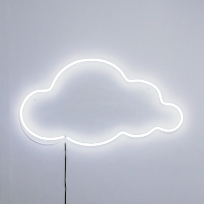 Cloud LED neon vägglampa