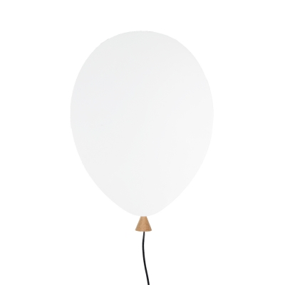 Balloon vägglampa LED, vit