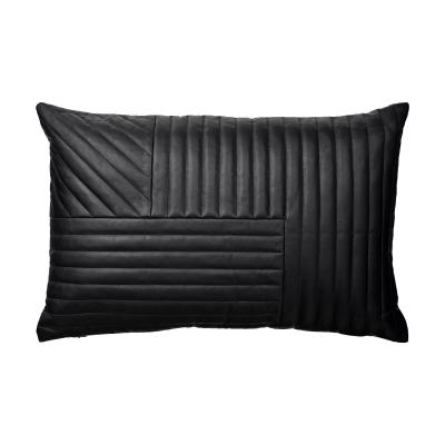 Motum kudde, svart läder