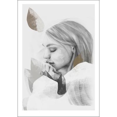 Bild av Dreamer in white poster