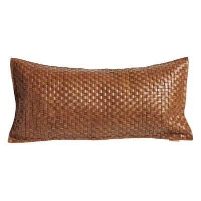 Bild av Mocca kudde knitted, cognac