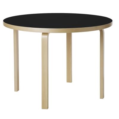90A bord, svart linoleum