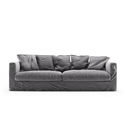 Le Grand Air 3-sitssoffa sammet, Granite