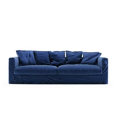 Le Grand Air 3-sitssoffa sammet, Indigo