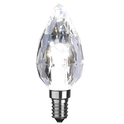LED-lampa E14 C35 diamond, transparent i gruppen Belysning / Ljuskällor / LED hos RUM21.se (1032251)