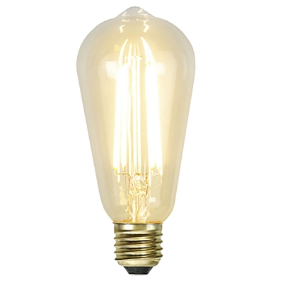 LED-lampa E27 ST64 soft glow dimmable, transparent i gruppen Belysning / Ljuskällor / LED hos RUM21.se (1032269)