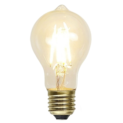 LED-lampa E27 TA60 soft glow dimmable, transparent i gruppen Belysning / Ljuskällor / LED hos RUM21.se (1032270)