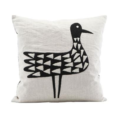 Bird kuddfodral 50x50, vit/svart thumbnail