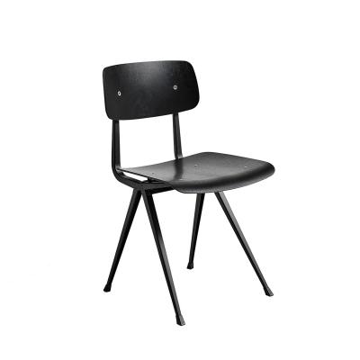 Result chair, black/oak black seat