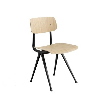 Result chair, black/oak matt seat