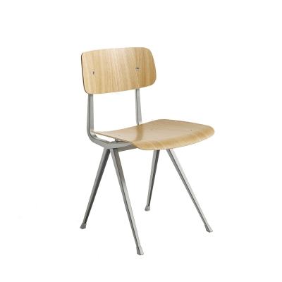 Result chair, beige/oak clear seat