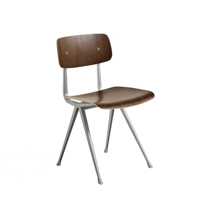 Result chair, beige/oak smoked oiled seat