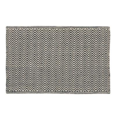 Herringbone matta 50x80, ivory/navy thumbnail