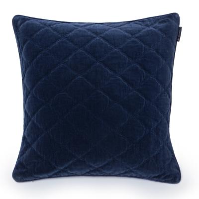 Velvet kuddfodral 65x65, blå