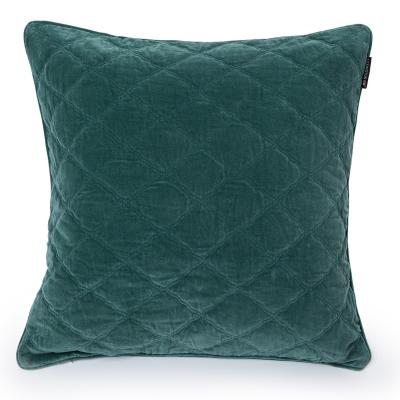 Velvet kuddfodral 65x65, grön