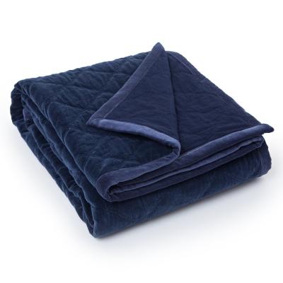 Quilt Velvet överkast 260x240, blå