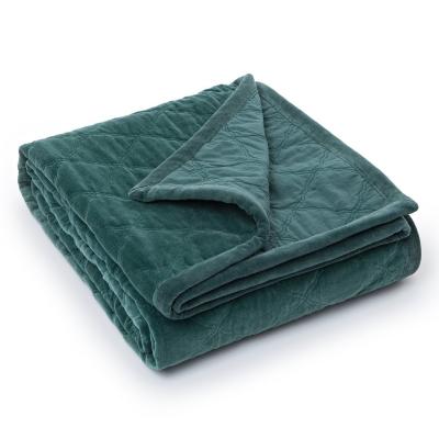 Quilt Velvet överkast 160x240, grön