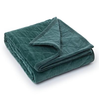 Quilt Velvet överkast 260x240, grön