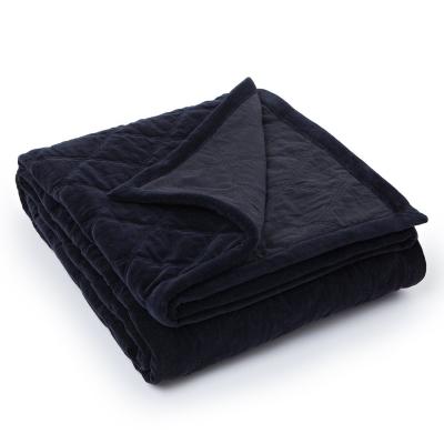Quilt Velvet överkast 160x240, svart