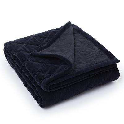 Quilt Velvet överkast 260x240, svart