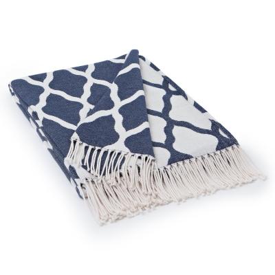 Jacquard Cotton filt 130x170, blå