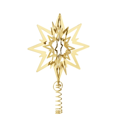 Star julgransstjärna M, guldpläterad