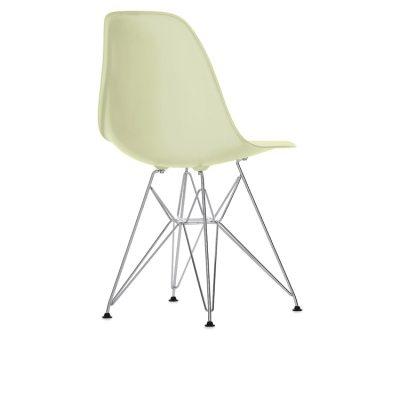 Eames Chair, DSR kromade ben, cream