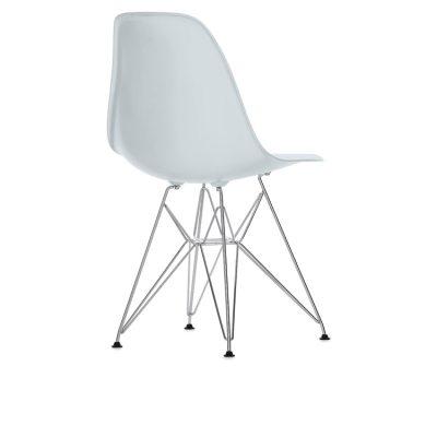 Eames Chair, DSR kromade ben, stone white