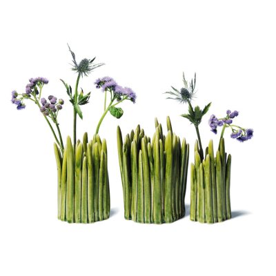 Grass keramikvas, mellan, grön