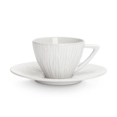 Sahara kaffekopp med fat 20 cl, vit