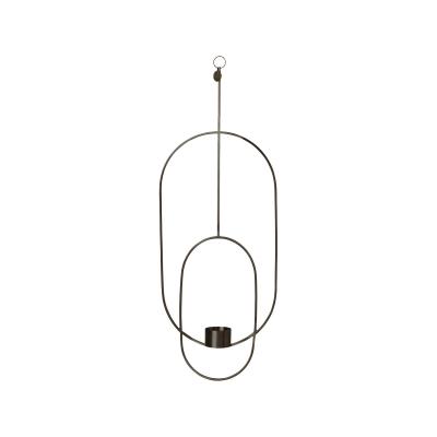 Oval värmeljushållare, svart