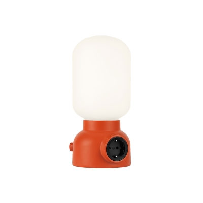 Plug lamp bordslampa, röd