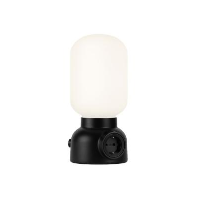 Plug lamp bordslampa, svart