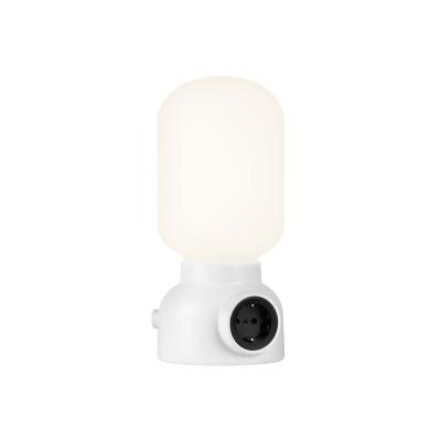 Plug lamp bordslampa, vit