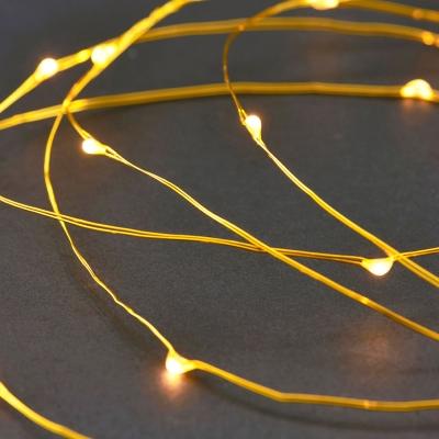Ljusslinga 80 lampor mässing