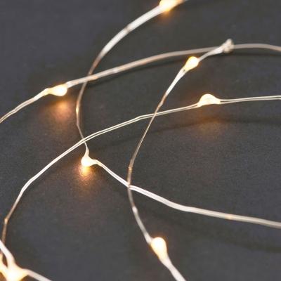 Ljusslinga 80 lampor silver