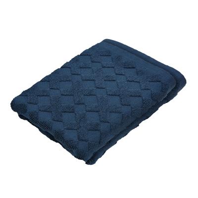 Cross gästhandduk 2-pack, marinblå