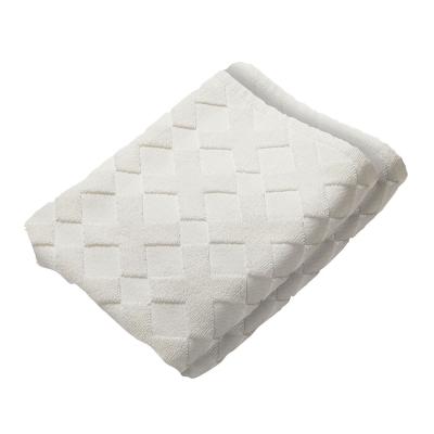 Cross gästhandduk 2-pack, off-white