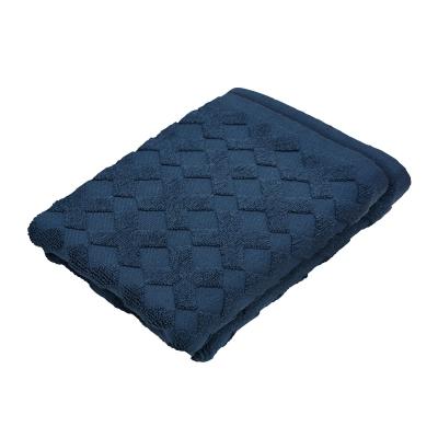 Cross handduk 2-pack, marinblå