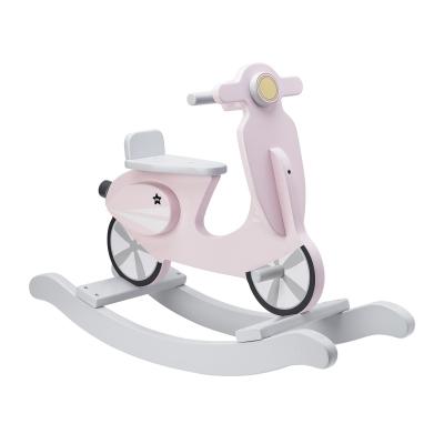 Gungscooter, rosa/vit