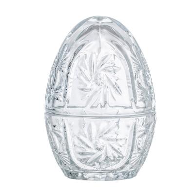 Glasägg med lock, transparent