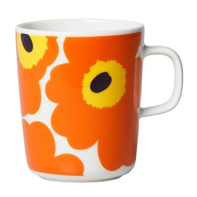 Unikko mugg 2,5 dl, gul/orange