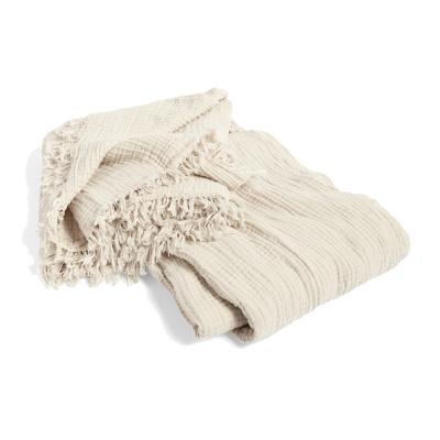 Crinkle sängöverkast 270x270, cream