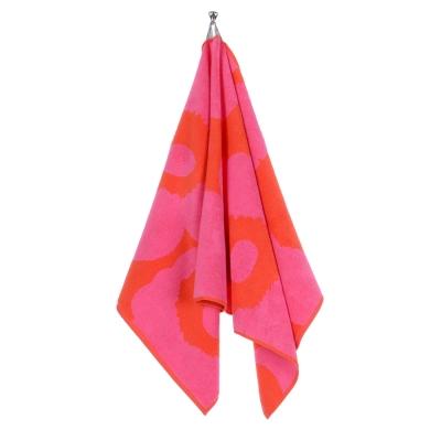 Unikko handduk röd/rosa