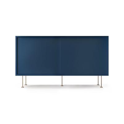 Vogue sideboard 136l, mörkblå/2DB/mässing