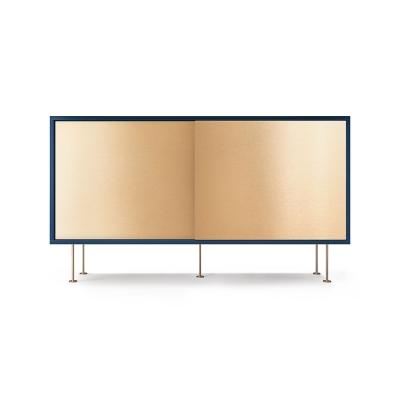 Vogue sideboard 136l, mörkblå/2B/mässing