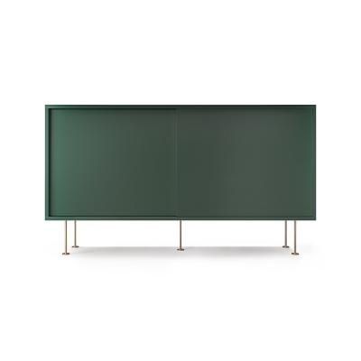 Vogue sideboard 136l, grön/2G/mässing