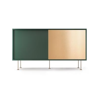Vogue sideboard 136l, grön/1G1B/mässing
